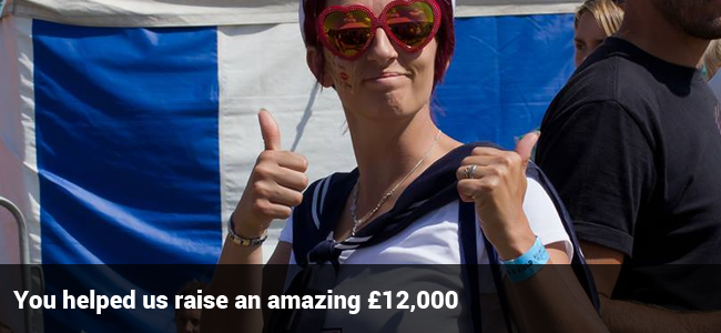 you helped us raise £12000