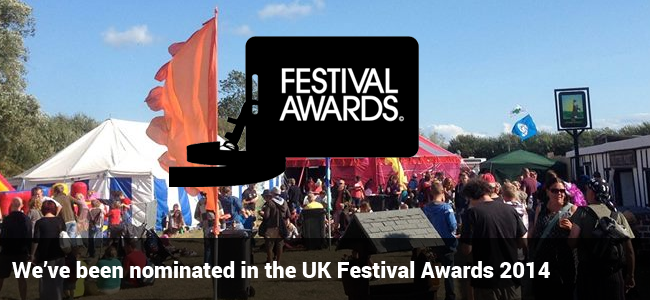 We've been nominated for the UK Festival Awards 2014